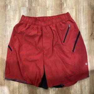 Lululemon Shorts Red Liner 7